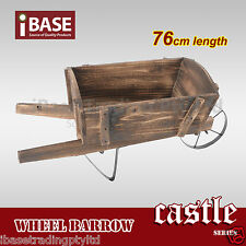 Wheelbarrow Antique Garden Decor Wooden Planter Outdoor Vintage Wood Timber