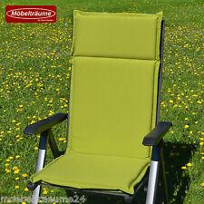 6 Hochlehner Gartenstuhl Sessel hoch Auflagen Polster Kissen gruen Gartenmoebel