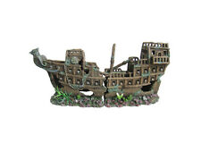Awesome 2 Piece Ship Wreck/Galleon  Aquarium Ornament Hide Cave