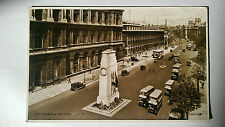 1931 B&W postcard Buses at the Cenotaph, Whitehall London