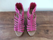 Ladies ALDO VILLAFANA Pink Suede Cork Wedges UK 3 EU 36 RRP £70 ONLY £9.99