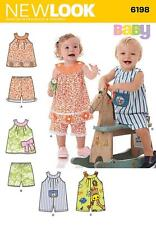 NEW LOOK SEWING PATTERN  Babies' Top, Shorts and Romper SIZE NB - L 6198