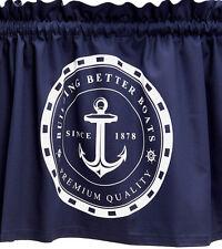 Fenstergardine,dunkelblau,maritim,70x46 cm, Anker