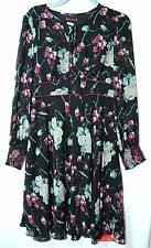 BLACK GREY LADIES FLORAL DRESS SPECIAL OCCASION EVENING PARTY SIZE 18/44 SAVOIR