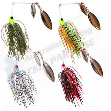 4x 1/2oz Spinnerbaits Spinner Bait Fishing Lures Buzz Fly Bass Cod Barra Metal
