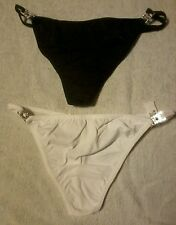L@@K NO VPL. 2 pairs luxury diamonte thongs. size 8 to  20 RRP £18 +