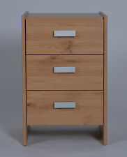 Dallas 3 Drawer Bedside Chest Pine Effect