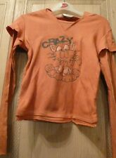Girls orange t-shirt size   140/146 cm