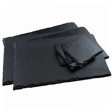 16 Piece Set Natural Slate Placemats Coasters Tablemat Dinner Drinks Coffee Mats