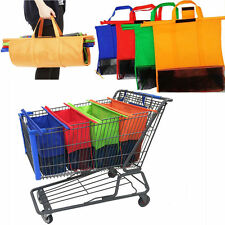 4 Bags Cartable Shopping Bags Reusable Eco Grocery Trolley Carrier Bags One Set