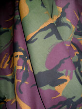 1M CAMO CAMOUFLAGE ARMY Green Brown Fabric POLY COTTON Crafts Quilting Sewing