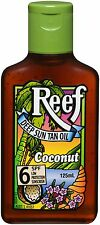 REEF DEEP SUN TAN OIL COCONUT 125ML - SPF 6 - tanning lotion oil - CHEAPEST