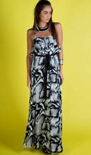 Honey And Beau Black & White Maxi Dress,Womens Long Summer Dress Size 16