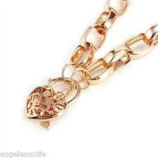 18K Rose Gold Filled Oval Belcher Link Bracelet (B-101)