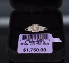 $1750 Simply Vera Wang 14k White Gold Princess Diamond Halo Engagement Ring Band