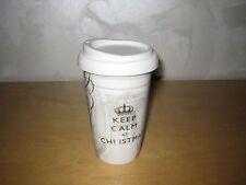 """PPD Coffee-To-Go-Becher """"Keep calm at christmas"""" aus Porzellan,neu und unbenutzt"""