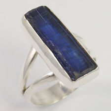 Men'S Fashion 925 Sterling Silver Ring Size US 7.75 Natural BLUE KYANITE Gems