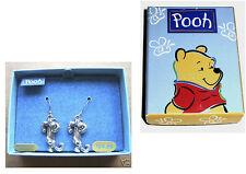 QUALITY STERLING SILVER DISNEY WINNIE THE POOH 'TIGGER' TIGER EARRINGS GIFTBOXED