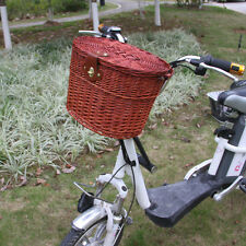 Brown Willow Wicker Bicycle Bike Front Basket For Shopping Stuff Pets Fruits
