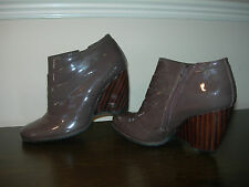 CLARKS WOMEN'S ANKLE BOOTS PATENT LEATHER SHOES EU SIZE 37 / UK 4 NARROW FIT