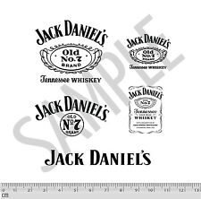 Jack Daniel's Code 3 Decal Stickers 5 PACK Black 1:24 1:18 Diecast Cars
