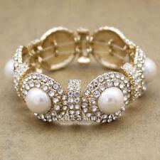 Cowgirl Art Deco 20s Great Gatsby Concho Austria Crystal Cuff Bracelet Bangle H9
