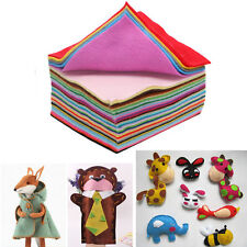 40pcs 15 x 15cm Fabric 1mm Thickness Polyester Felt Bundle For Sewing Dolls