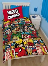 Marvel Comics Defenders Reversible Rotary Single Bed Duvet Quilt Cover Set