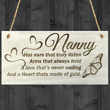 Nanny Wooden Plaque Birthday Gift Sign Present Heart Shabby Chic Wooden Plaque
