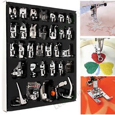 32pcs Domestic Sewing Machine Presser Foot Set For Janome Brother Singer NewHome