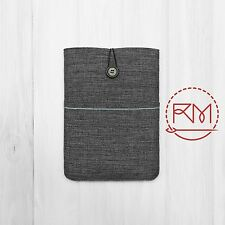 Padded Cover Sleeve Pouch for iPad mini 4 Grey and Blue Cotton