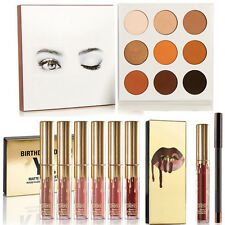 Beauty Eyeshadow Palette + Matte Liquid Gold Lipstick Colorful Gift Makeup Set