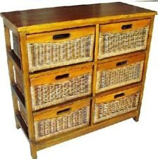 Mexican 6 Drawers tall Storage Cabinet