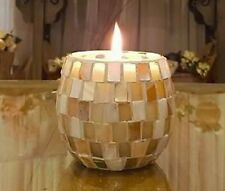 Scented Mosaic Soy Candles! White Seashell Pearl Mosaic Candle..Coconut & Lime