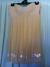 Forever New Dress Size Sz 10 12 Ladies Cocktail Lace Silk Strapless Wedding