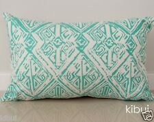 Aqua Aztec Cushion Cover Throw Pillow Case Home Decor 100% Cotton 30x50cm Kibui
