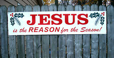 JESUS is the Reason for the Season Banner Sign New