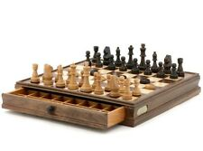 Quality DAL ROSSI Wooden Chess and Checkers Family Board Game Christmas Gift