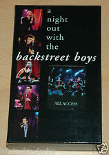 A Night out with the Backstreet Boys 1999 Box VHS CD Kalender Pass 5013705220722
