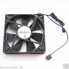 1 PCS Antec 120 mm 3 Speed Black PC Case Fan 3 Pin Connector Cooling Quiet F01