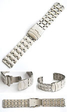 STAINLESS STEEL WRISTWATCH STRAP 26/30 MM WITH SAFETY CLASP NEW