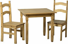 Corona Small Mexican Pine Dining Table and 2 Chairs New