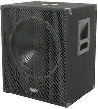 "QTX QT15SA 15"" 600W Active Powered Subwoofer Bass Bin Speaker DJ Disco"