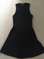 Theory Black Knitted Dress Size Large