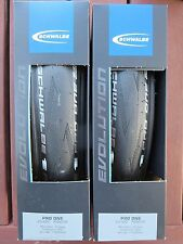 SCHWALBE PRO ONE MICROSKIN TUBELESS ROAD BIKE TYRES PAIR 700C 23MM CLINCHER