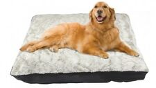 Pets For Life Extra Large Luxury Plush Bone Pearl Dog Bed XL