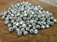 120 pce Bright Tibetan Silver Faceted Spacer Beads 4mm x 3.5mm