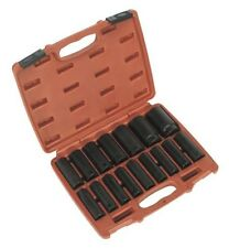 "Sealey AK5816M Deep Impact Socket Set 16 Piece 1/2"" Sq Drive Metric 10 - 32 mm"