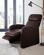Brown Faux Leather Manual Recliner New Free LOCAL Delivery SALE