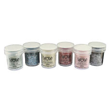 Wow! Glitter Embossing Powder 6 Piece Set - Vintage Collection